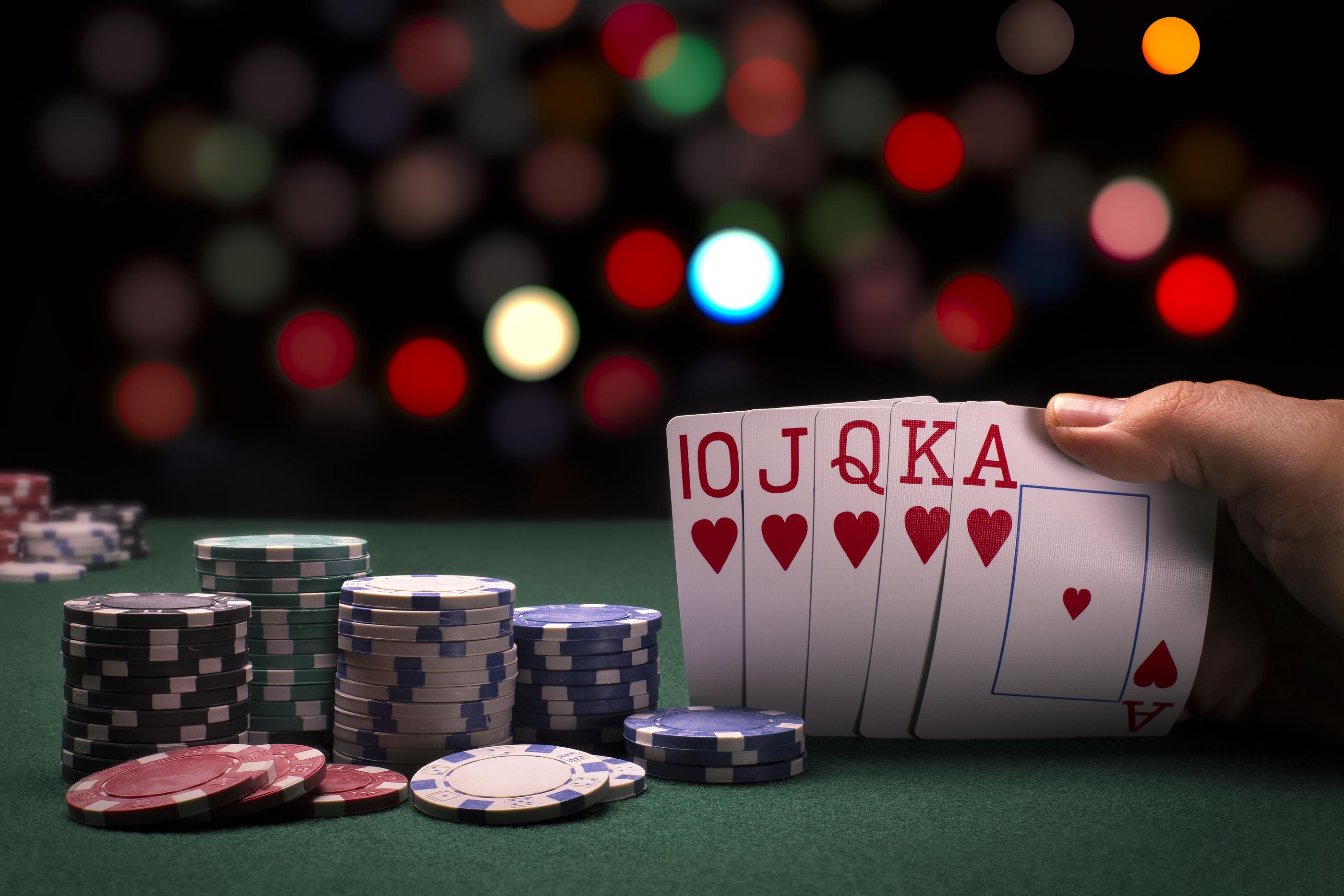 online poker a shot
